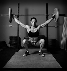 arm, chest, weight training, squat, muscle, monochrome photography, limb, barbell, physical fitness, monochrome, black-and-white, person, bodybuilding, physical exercise, black,