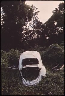 Abandoned Car, Off Highway in Rio Grande 02/1973