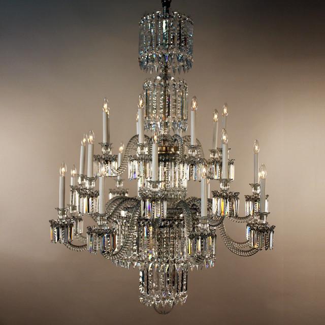Antique Bronze 4-light Round Crystal Chandelier   Overstock.com