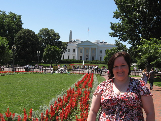 kim in front of white house from lafayette park june 2009