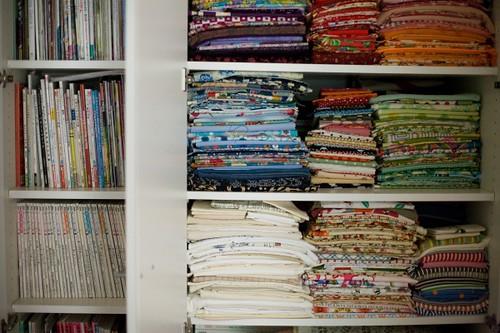 craft books and fabrics