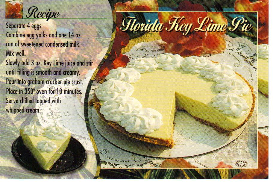 Florida Key Lime Pie recipe postcard - available - a photo on ...