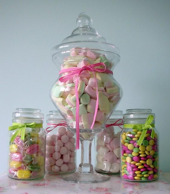 Pretty candy jars