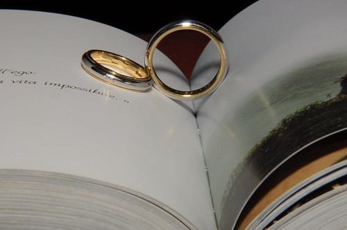 Wedding rings and heart shade