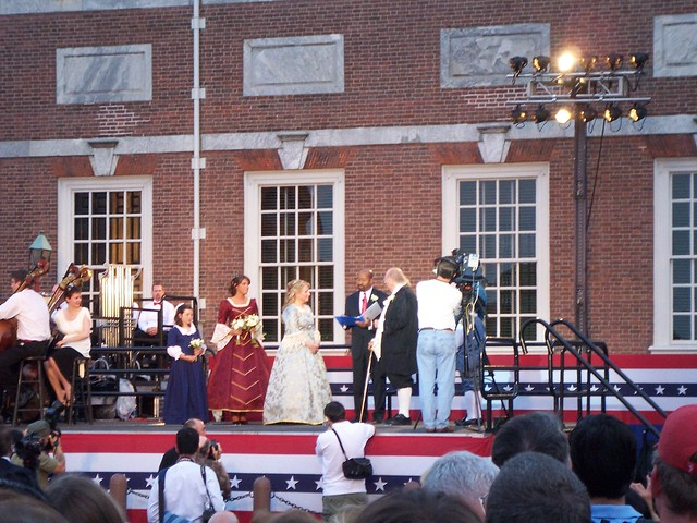 ben franklin & betsy ross exchange vows