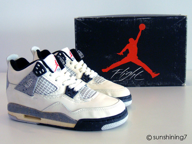 ... Sunshining7 - Nike air Jordan IV (4) - OG 1989 - White Cement Grey 76bff3e7a