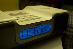 hand(0.0), communication device(0.0), watch(0.0), alarm clock(1.0), electronics(1.0), gadget(1.0), clock(1.0),
