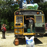 Audrey Asks for Bus Information - Marcala, Honduras
