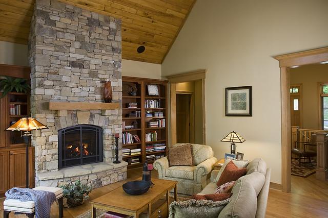 Stone Fireplace Bookshelves Flickr Photo Sharing
