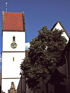 Kirche: Heiliger Cyriak ,  St. Cyriak Church. St. Cyr. --  Dettensee; jetzt Teilgemeinde von Horb am Neckar ,