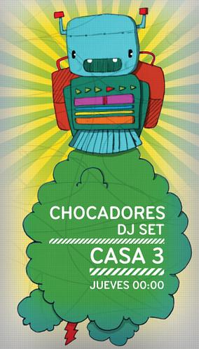 Flyer Chocadores DJ SET