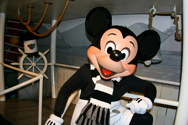 Disneyland Aug 2009 - Meeting Steamboat Willie