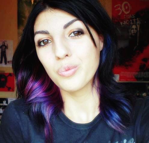 purple black hair flickr photo sharing