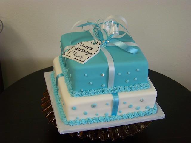 Tiffany Blue Cake Images : Tiffany Blue Present Birthday Cake Flickr - Photo Sharing!