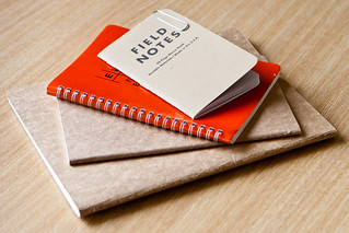 Field Notes, Elan Field Book and various Moleskines