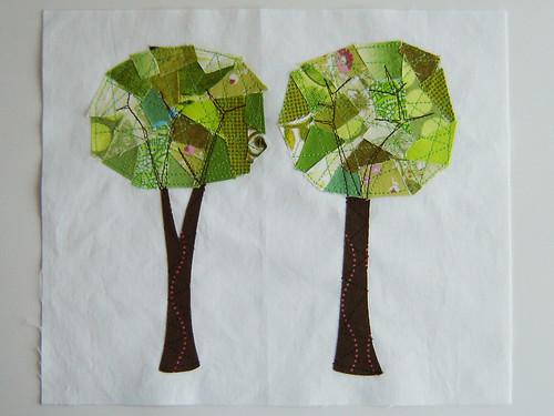Mod Trees Quilt Block