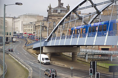 Sheffield tramway overpass and road