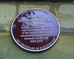 Photo of Robert Baden-Powell claret plaque