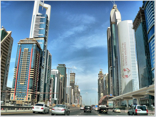 Sheikh Zayed Road, Dubai.