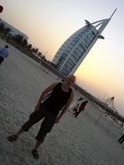 Hubbers at Burj al Arab Seven Star hotel in Dubai, United Arab Emirates (UAE)
