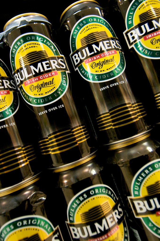 Cans of Bulmers