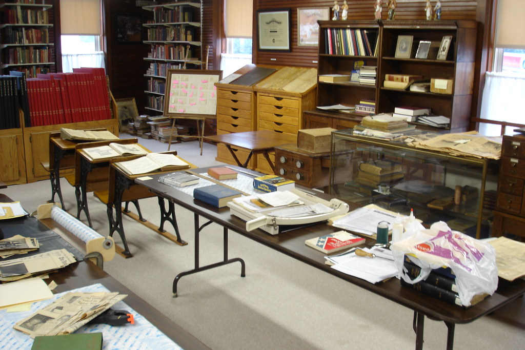 Historical archiving room