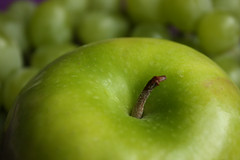 green, produce, fruit, food, close-up, granny smith, apple,