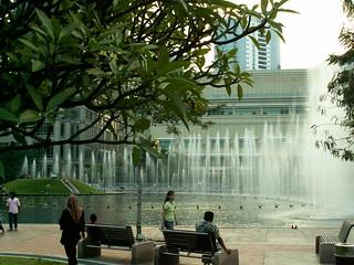 KLCC Park at the Petronas Towers