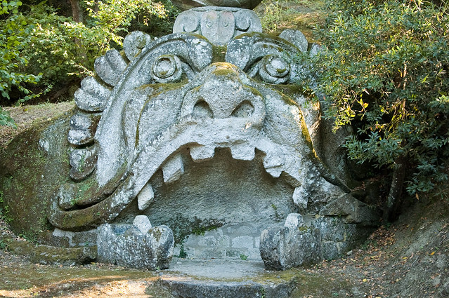 Weird Italy 3904267135_ea5f4139b8_z Gardens of Bomarzo, Arcane Park of the Monsters Featured Italian History Magazine What to see in Italy  Viterbo Pier Francesco Orsini Park of the Monsters manieristic garden Lazio Garden of Bomarzo