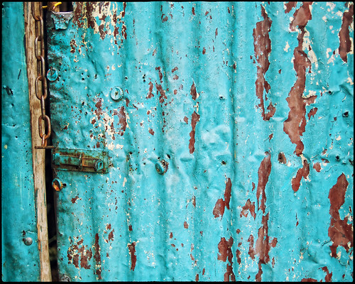 africa door blue broken 35mm rust peeling lock decay ethiopia addisababa f20 primelens nikond90