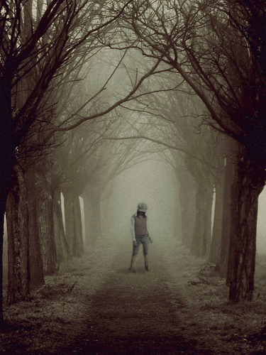 life portrait love girl forest dark death sad path bare manipulation eerie hide lonely seek sorrow