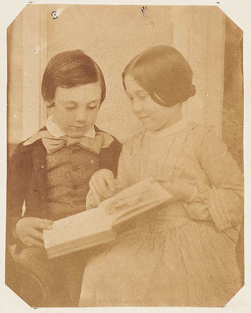 Harry and Amy Dillwyn (children of Lewis Llewelyn Dillwyn) by M. D. 1853