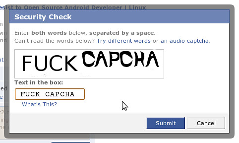 I dont like Captcha