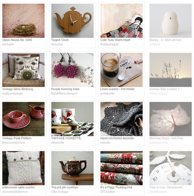 An Extra Hour, Etsy treasury curated by Emma Lamb