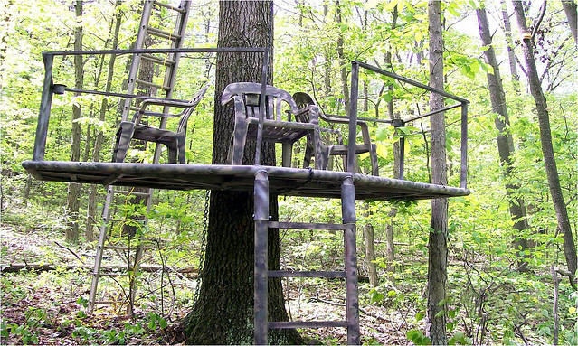 Three person tree stand by m perry flickr photo sharing for One person tree stand