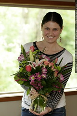 rachel, with mother's day flowers from her own mothe…