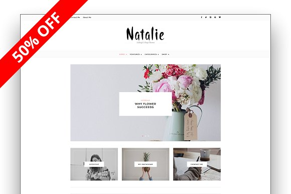 Natalie v4.0.1 – A BLOG and SHOP Theme