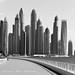 La marina face a la Palm Jumeirah