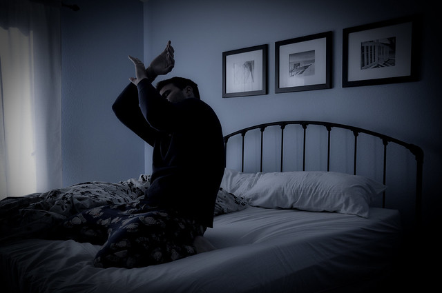 waking up from a dream to a nightmare While in the midst of these vivid, frightening dreams, the dreamer usually wakes  up abruptly and can describe the nightmare, often in detail nightmares occur.