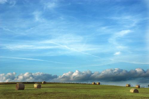 summer field weather rural landscape nikon day nikond100 clear missouri hay bales ozarks geotag haybales