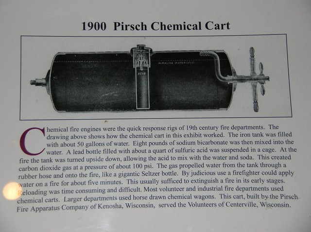 HoF28 - American - Pirsch Chemical Cart - 1900 - Centerville, Wisconsin Volunteer Fire Dept
