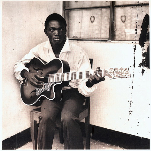 A 1956 photograph of Franco at 18. Franco and the TPOK Jazz Band created and spread the legendary pan-african music sounds emanating from Congo from the 1950s thru the 1980s. by Pan-African News Wire File Photos