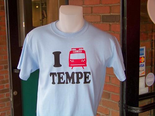 Tempe, AZ loves light rail - Brand X t-shirts, Mill Avenue