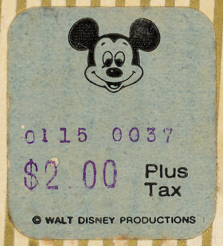 Disneyland Price Sticker