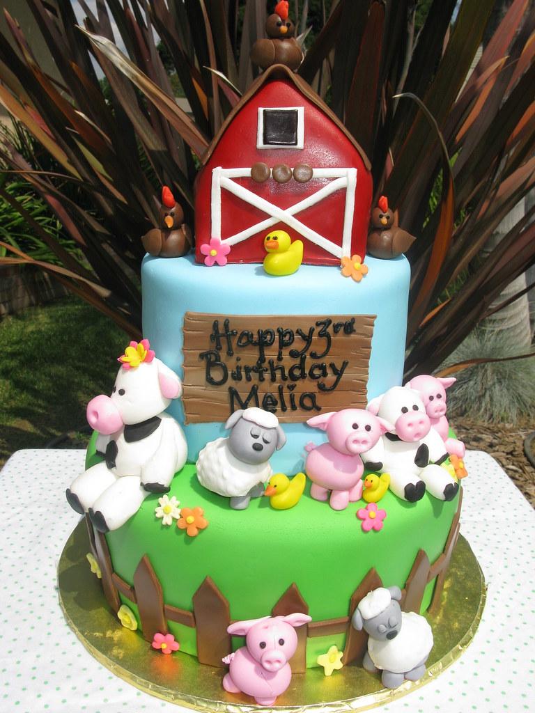 Animal Farm Theme Birthday Cake