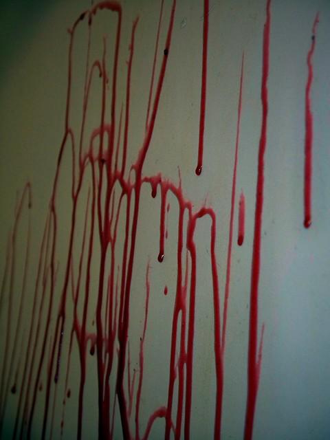 Blood Running Down Wall Flickr Photo Sharing