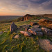 Kinder Stones Quarry at Sunset by andy_AHG