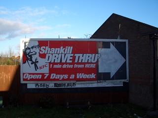 Patty Hearst appears on KFC billboard