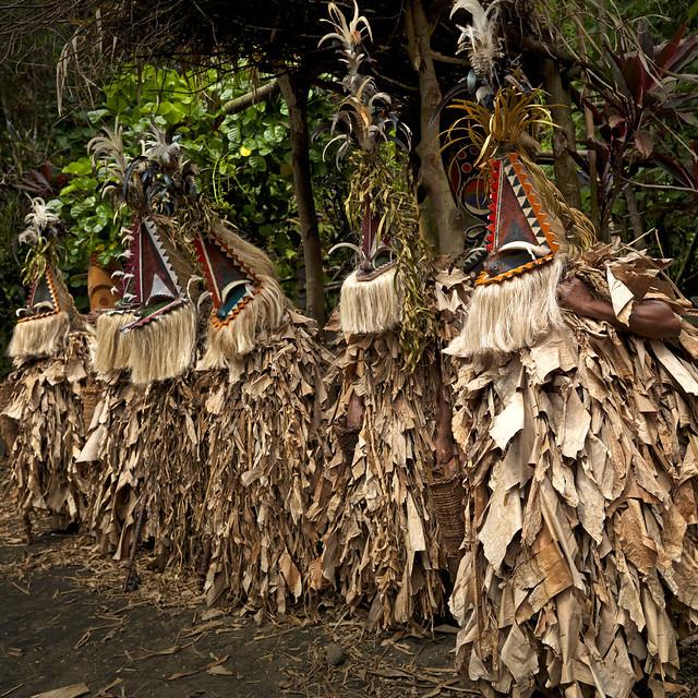 Rom dance secret masks, Ambrym, Vanuatu