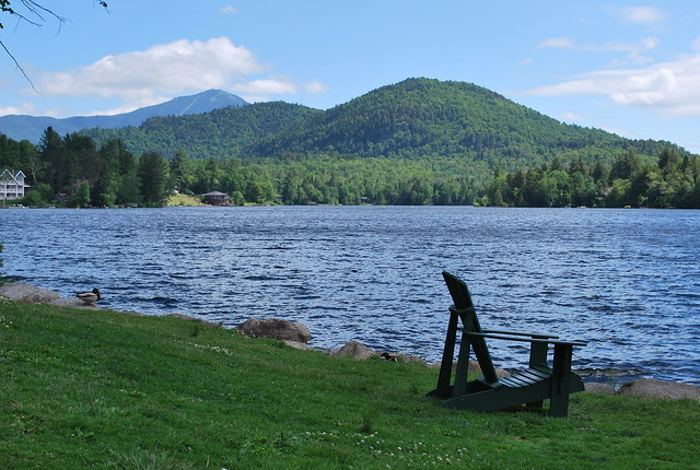 adirondack chair at mirror lake flickr photo sharing